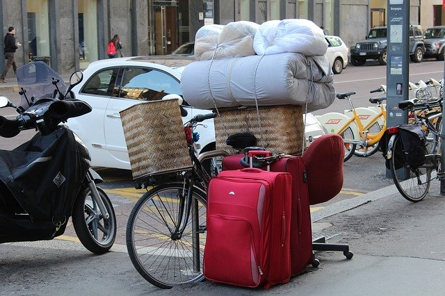 zabalená zavazadla